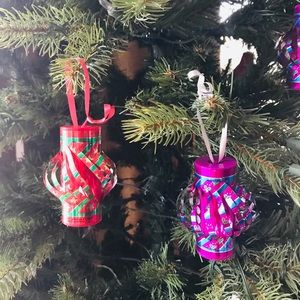 Chinese lantern type Christmas ornaments